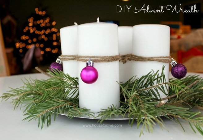 DIY Advent wreath title 2
